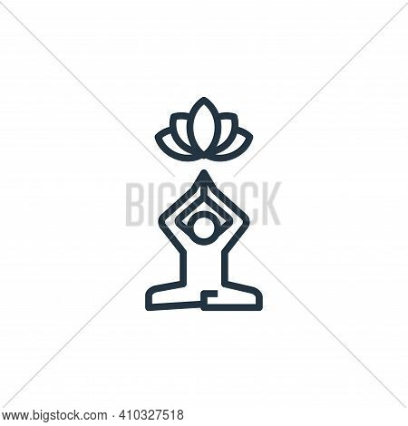 relaxation icon isolated on white background from work life balance collection. relaxation icon thin