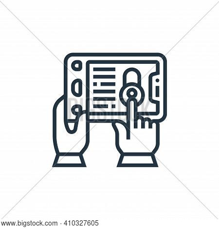 protection icon isolated on white background from confidential information collection. protection ic
