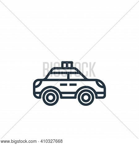 police car icon isolated on white background from motorway collection. police car icon thin line out