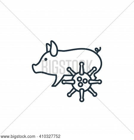 pig icon isolated on white background from coronavirus collection. pig icon thin line outline linear
