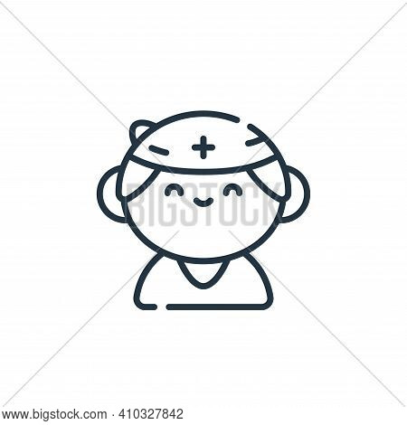 nurse icon isolated on white background from medical services collection. nurse icon thin line outli