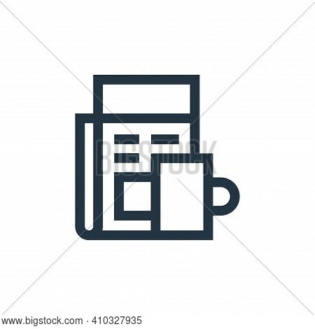 newspaper icon isolated on white background from hobbies collection. newspaper icon thin line outlin