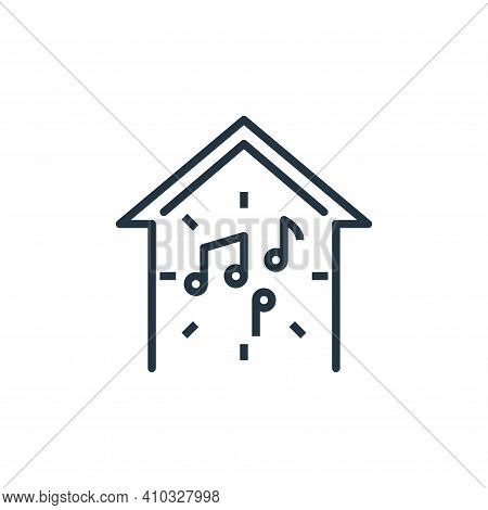 music icon isolated on white background from work from home collection. music icon thin line outline