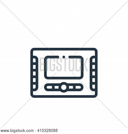 monitor icon isolated on white background from taxi service collection. monitor icon thin line outli