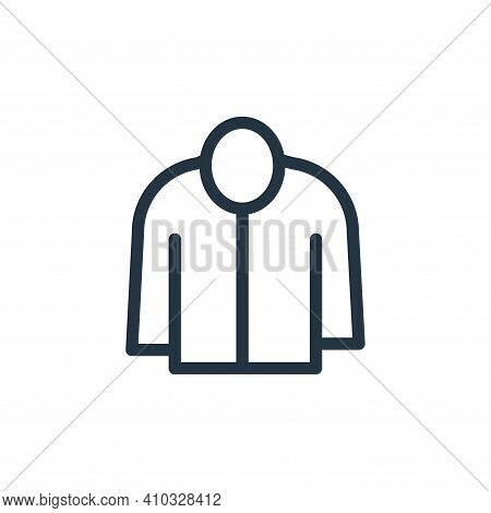 jacket icon isolated on white background from fashion collection. jacket icon thin line outline line