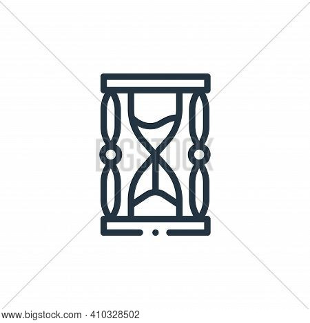 hourglass icon isolated on white background from videogame elements collection. hourglass icon thin