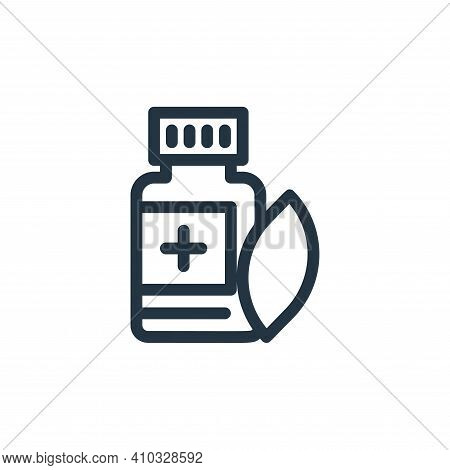 herbal icon isolated on white background from medical tools collection. herbal icon thin line outlin