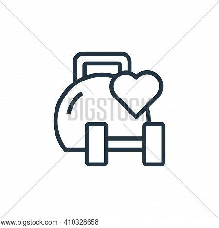 gym icon isolated on white background from stay at home collection. gym icon thin line outline linea