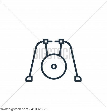 gong icon isolated on white background from circus collection. gong icon thin line outline linear go