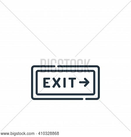 exit icon isolated on white background from signals and prohibitions collection. exit icon thin line