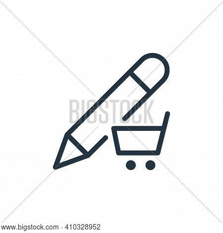 e commerce icon isolated on white background from work office supply collection. e commerce icon thi