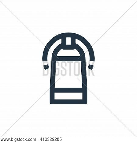 CT scan icon isolated on white background from medical kit collection. CT scan icon thin line outlin