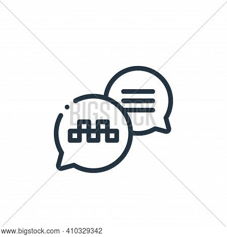 conversation icon isolated on white background from taxi service collection. conversation icon thin