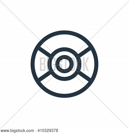 compact disc icon isolated on white background from music collection. compact disc icon thin line ou