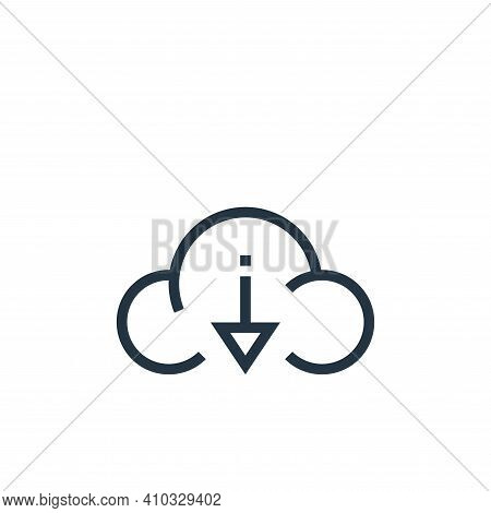 cloud download icon isolated on white background from web essentials collection. cloud download icon