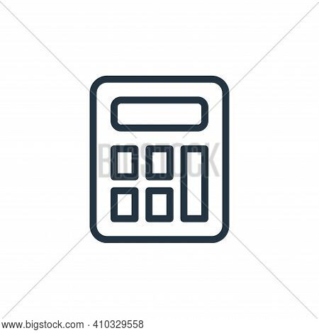 calculator icon isolated on white background from work office supply collection. calculator icon thi