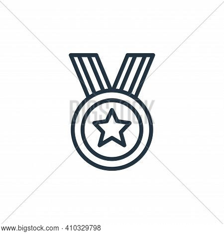 award icon isolated on white background from education collection. award icon thin line outline line