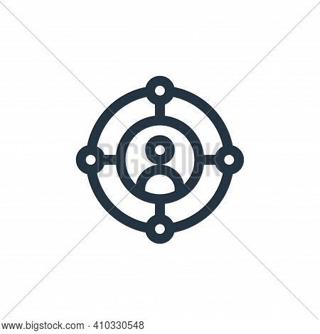 target icon isolated on white background from virtual reality collection. target icon thin line outl