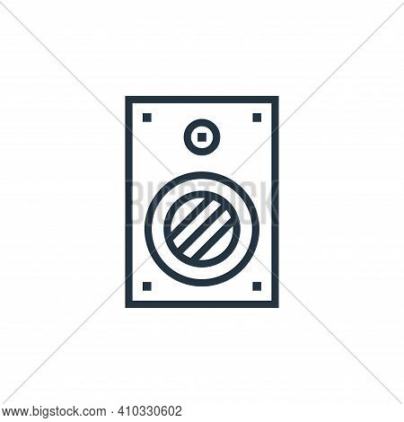 speaker icon isolated on white background from hardware collection. speaker icon thin line outline l