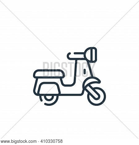 scooter icon isolated on white background from italy collection. scooter icon thin line outline line