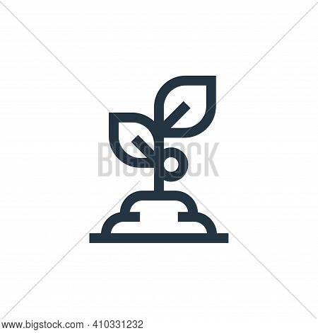 plant icon isolated on white background from nutrition collection. plant icon thin line outline line