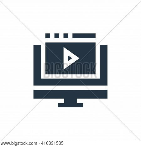 online video icon isolated on white background from advertisement collection. online video icon thin
