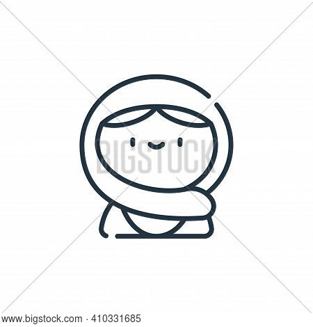 muslim icon isolated on white background from ramadan collection. muslim icon thin line outline line