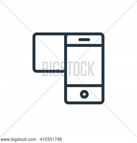 mobile icon isolated on white background from user interface collection. mobile icon thin line outli