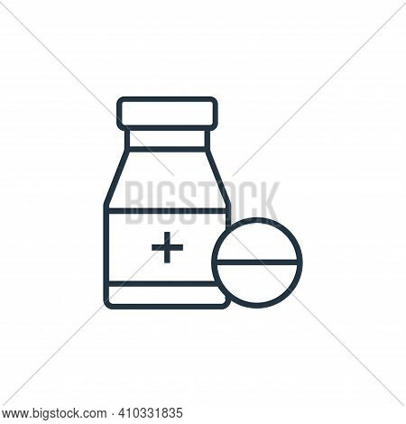 medicine icon isolated on white background from medical tools collection. medicine icon thin line ou