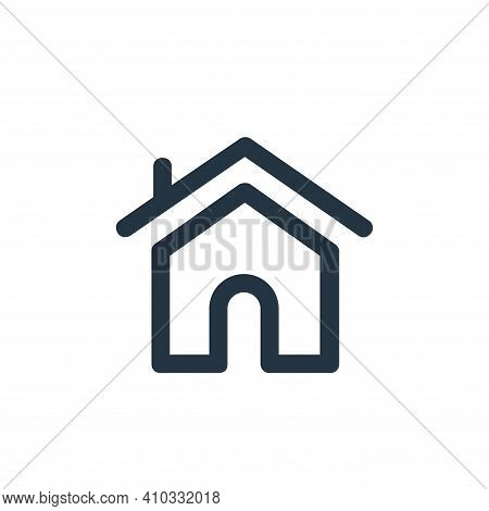home icon isolated on white background from user interface collection. home icon thin line outline l