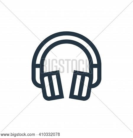 headphone icon isolated on white background from electronics collection. headphone icon thin line ou