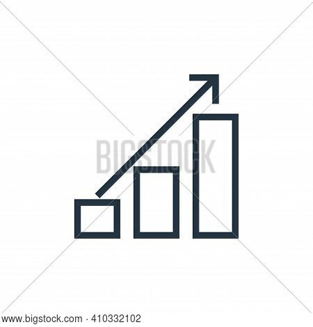 growth icon isolated on white background from finance collection. growth icon thin line outline line