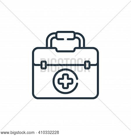 first aid kit icon isolated on white background from baseball collection. first aid kit icon thin li