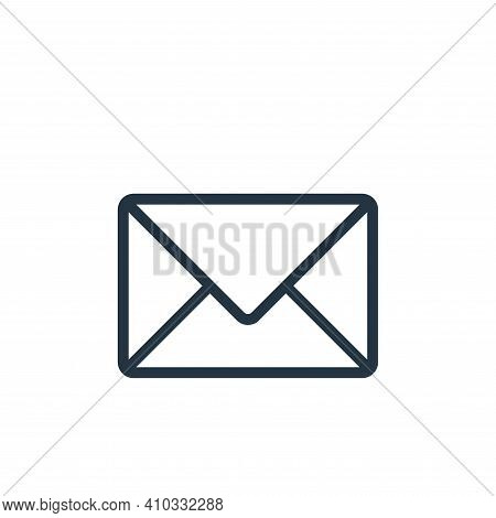 email icon isolated on white background from banking and finance flat icons collection. email icon t