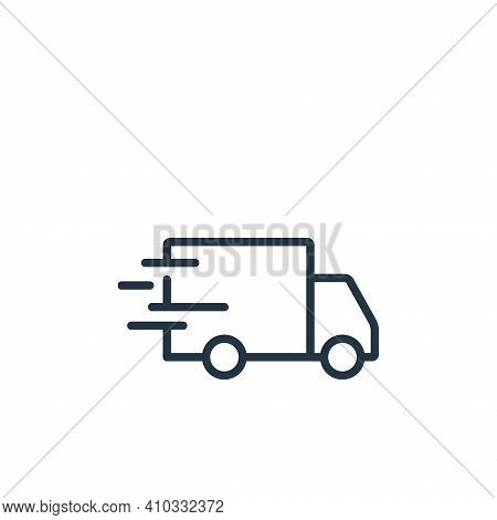 delivery truck icon isolated on white background from ecommerce collection. delivery truck icon thin