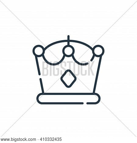 crown icon isolated on white background from videogame collection. crown icon thin line outline line