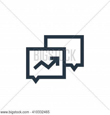 conversation icon isolated on white background from marketing and growth collection. conversation ic