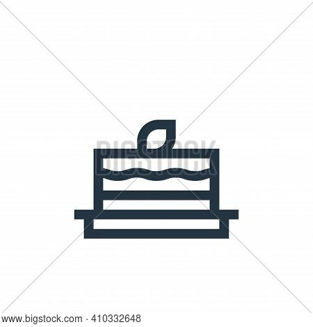 carrot cake icon isolated on white background from vegan collection. carrot cake icon thin line outl