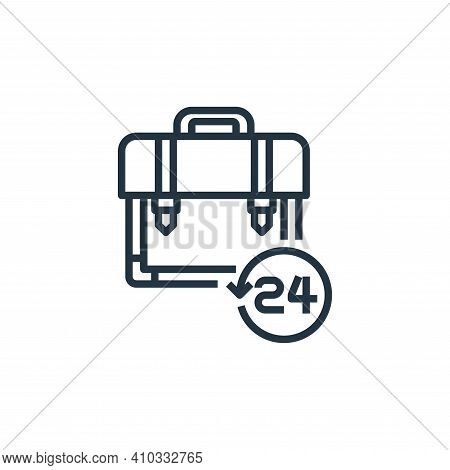 briefcase icon isolated on white background from work from home collection. briefcase icon thin line