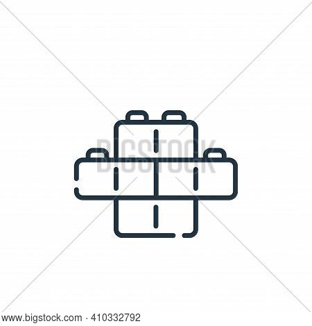bricks icon isolated on white background from children toys collection. bricks icon thin line outlin