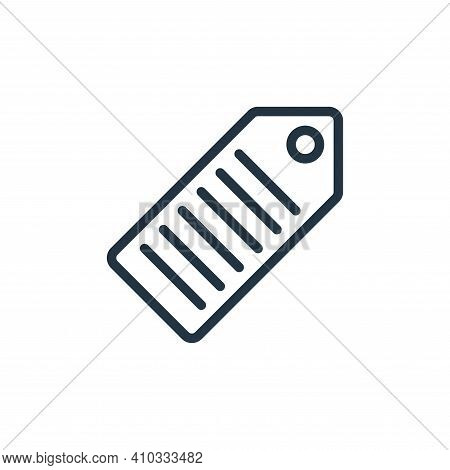 tag icon isolated on white background from miscellaneous collection. tag icon thin line outline line