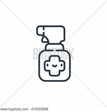 spray icon isolated on white background from pets collection. spray icon thin line outline linear sp