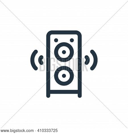 speaker icon isolated on white background from communication and media collection. speaker icon thin