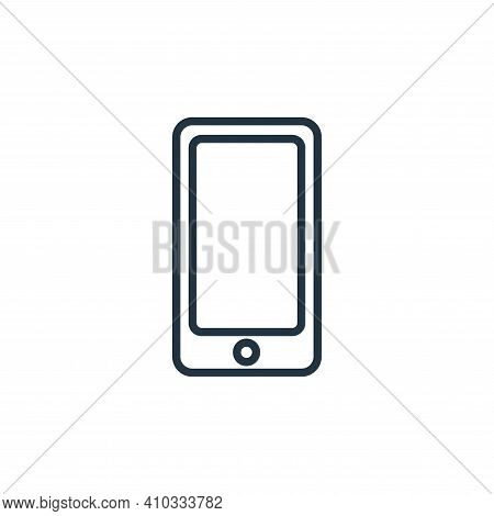 smartphone icon isolated on white background from communication collection. smartphone icon thin lin