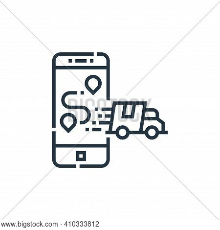 smartphone icon isolated on white background from delivery collection. smartphone icon thin line out