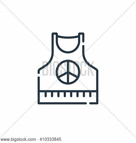 sleeveless shirt icon isolated on white background from hippies collection. sleeveless shirt icon th