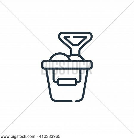 sand bucket icon isolated on white background from children toys collection. sand bucket icon thin l