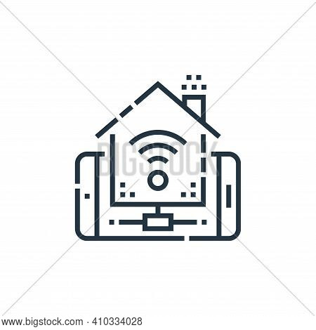 remote control icon isolated on white background from smarthome collection. remote control icon thin