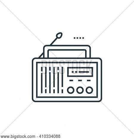 radio icon isolated on white background from technology devices collection. radio icon thin line out