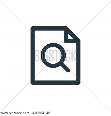 preview icon isolated on white background from user interface collection. preview icon thin line out
